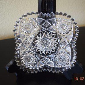 Other - Art Deco Czech Bohemia Crystal Glass Star Plate